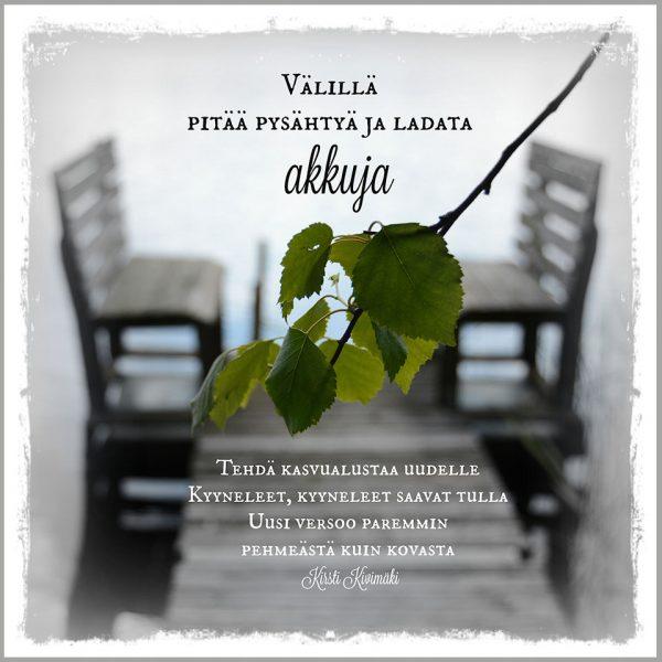 Akkujen lataus - Kirsti Kivimäki